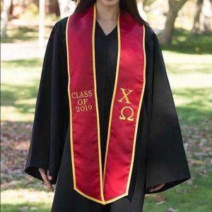 Chi Omega Graduation Stole
